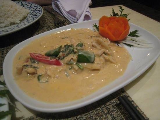 Nuch's Green Ta'lay Restaurant: Panang chicken curry