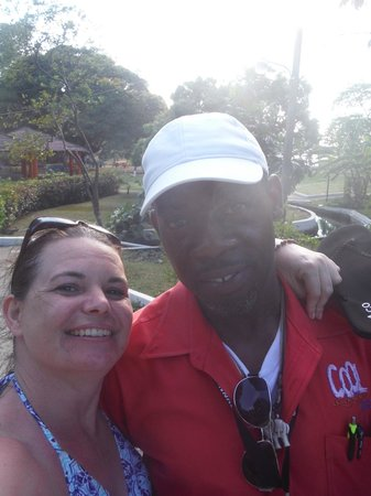 Cool Runnings Catamaran Cruises Jamaica: Our bus driver. Thank you so much. Without our camera our trip was lost.