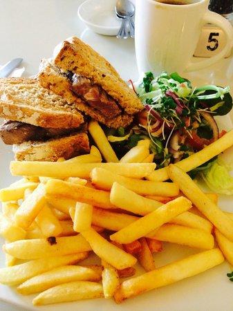 The Hamptons Delicatessen: Steak sandwich.