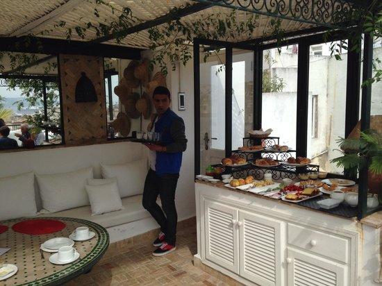 La Maison de Tanger: El desayuno en la terraza