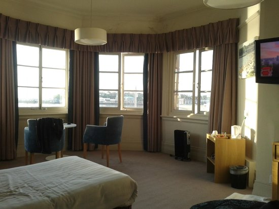 Bay Royal Weymouth Hotel: View sitting in bed having a cup of tea