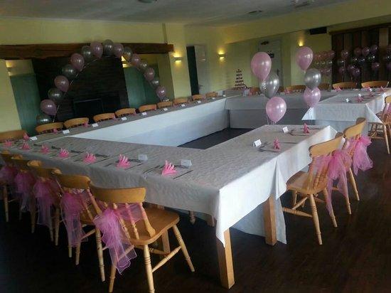 Swadlincote Ski and Snowboard Centre: Wedding Breakfast set up