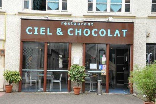 Ciel et Chocolat : Entrée du Restaurant