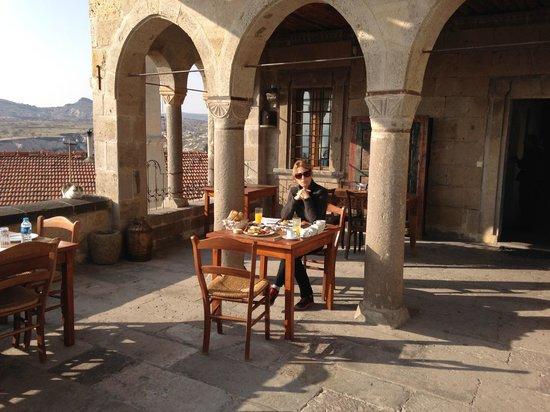 Kale Konak Cave Hotel : Breakfast terrace