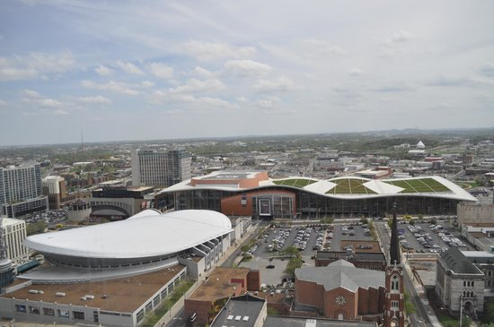 Renaissance Nashville Hotel: View of Bridgestone Arena and Music City Center from 2503