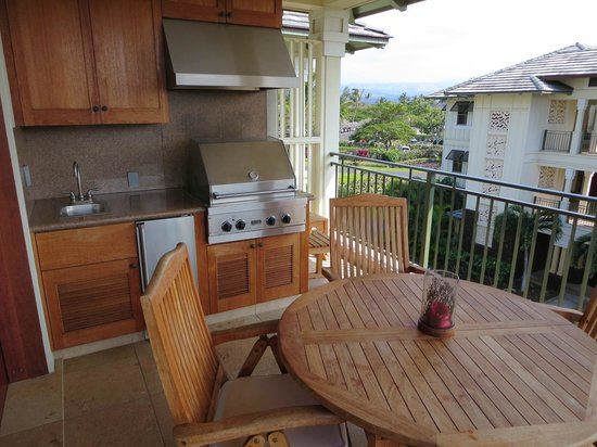 Kolea at Waikoloa Beach Resort : Lanai with BBQ