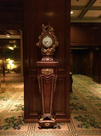 The Adolphus : Clock in lobby