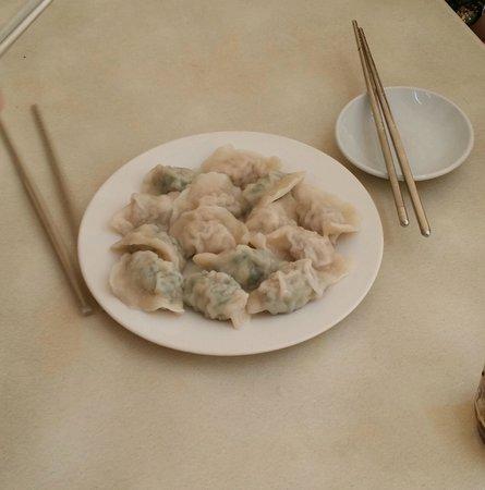 Dong Bei Dumpling: combination of pork and kuchay dumplings