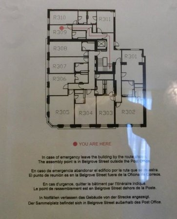 Hotel Megaro: フロアの見取り図。ワンフロアの広さ(狭さ?)がおわかりいただけるかと?