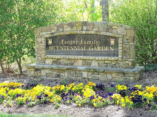 Tanger Family Bicentennial Garden : sign on road