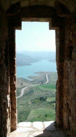 Torre del Homenaje : Vista desde una ventana de la torre. Impresionante