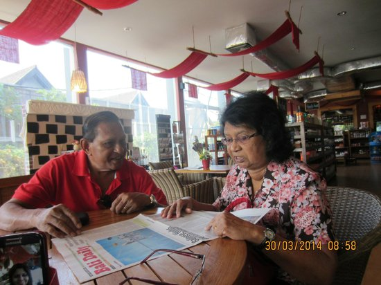 Seminyak Square Hotel: Dining wit my wife on her b'day