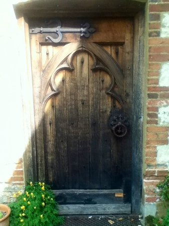 Gilbert White's House & The Oates Museum: Lovely old door at rear of house