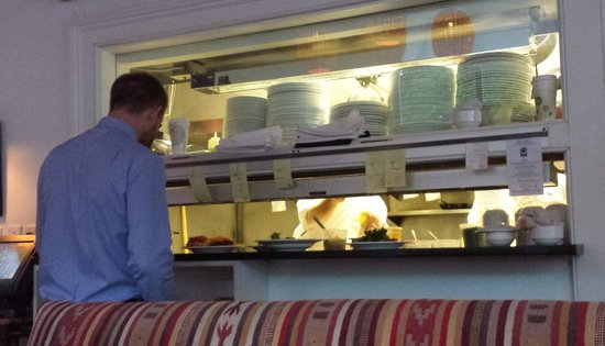 Old Village Post House Inn: Noah expediting on a busy night