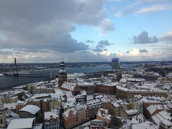 View of Riga from St Peter's Church Tower: views
