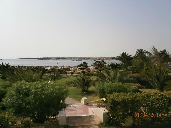 Fort Arabesque Resort, Spa & Villas: View from pool terrace of west wing