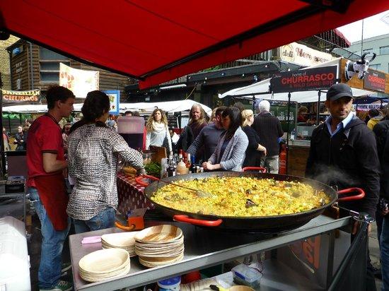 Camden Market: One of the food vendors in Camden Lock Market