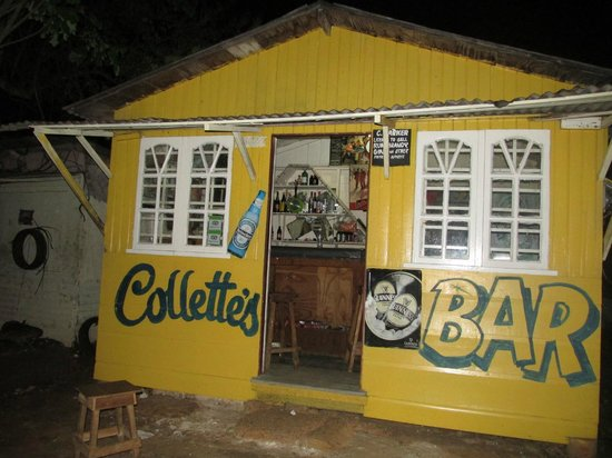 Collette's Bar : right past the fire station on your left up the Shell station road