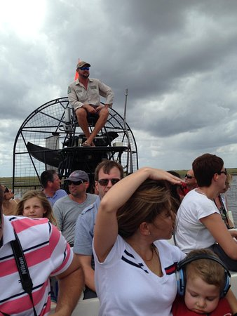 Gator Park: Roger perched atop the airboat