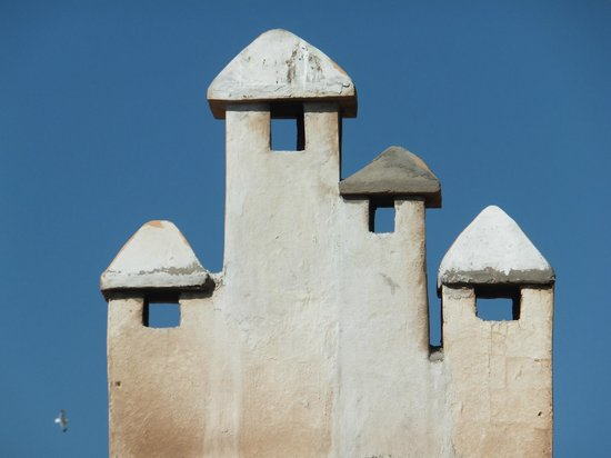 Riad Perle d'Eau: Chimneys from the terrace