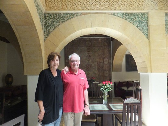 Riad Perle d'Eau: Our charming hosts, Ernest and Gisele