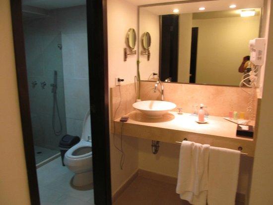 Hotel Capilla del Mar : El baño completísimo y muy cómodo
