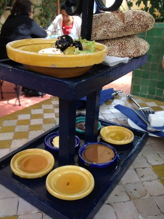 Restaurant Cafe La SQALA : I've had better jam and honey in other places in Morocco.