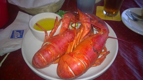 Ocean Gardens Restaurant and Tavern : Twin lobters for $19.99