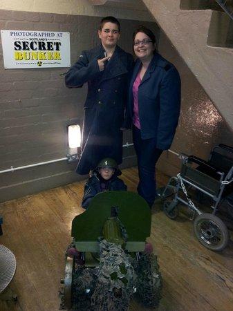 Scotland's Secret Bunker: dressing up and posing!