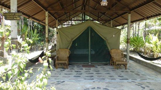 Elephant Hills Tented Camp : Aussenansicht Zelt