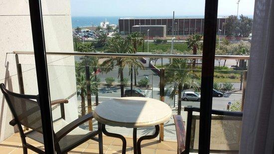 NH Hesperia Barcelona del Mar : Blick aus dem Zimmer von Hesperia del Mar