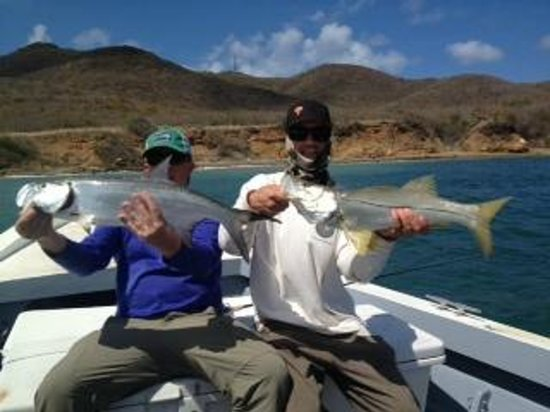 Jade Hook Charters: a snook and a tarpon released after an exciting double hook up