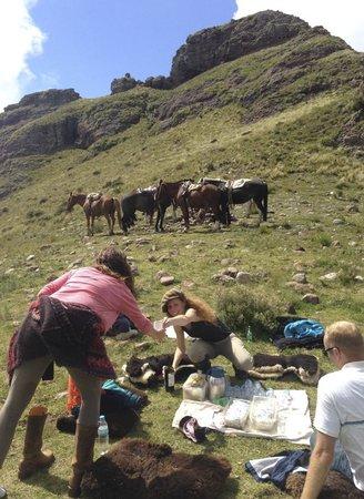 Dos Lunas Horse RIding Lodge : The mountain top picnic ride