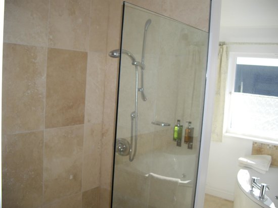 Denham House: walk in shower