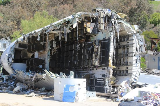 Universal Studios Hollywood: 747 Crash Site (during Studio Tour)