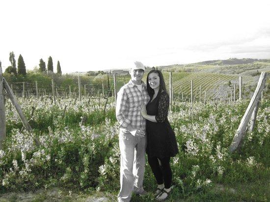 Borgo Argenina: Us in the vineyards