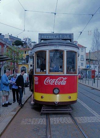 Tram 28 at Praca do Sol