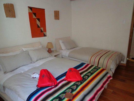 Lodge Andino Terrantai : Habitación. Cómoda y acogedora, no se pasa frío ni calor