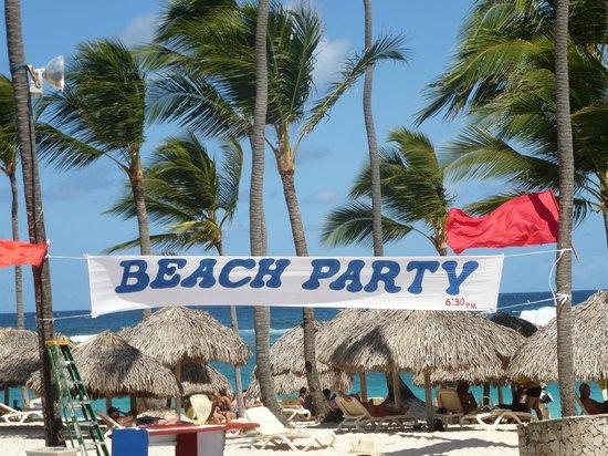 Majestic Colonial Punta Cana: Beach party un jour de grand vent !