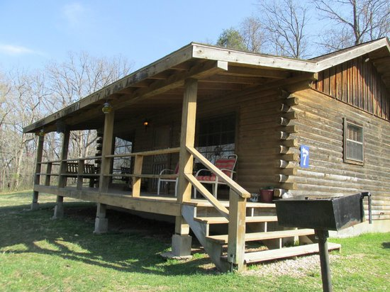 Retreat at Sky Ridge: front porch and front view of cabin #7