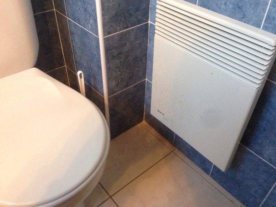 Hotel Le Grand Cap: Regardons bien les traces marron sur le radiateur à coté du WC ce n'est pas de la rouille