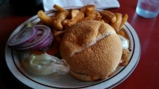 Deluxe Diner: My chicken sandwich. Nothing special but its food.