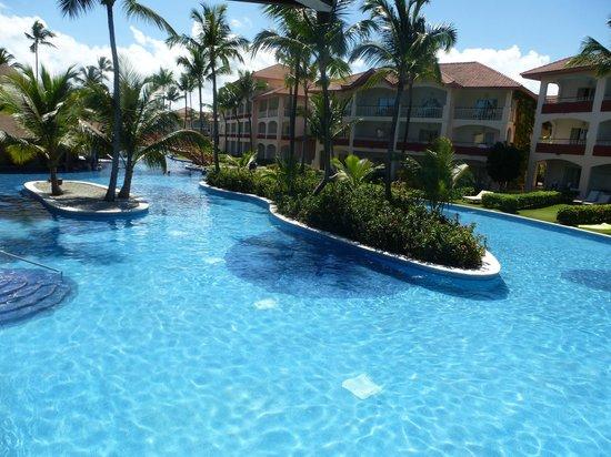 Majestic Colonial Punta Cana: Vue depuis le balcon du restau de la plage