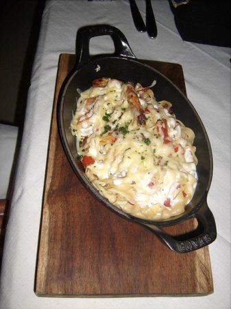 Mandarina Seaside Restaurant by Casa Las Tortugas: Shrimp Pasta