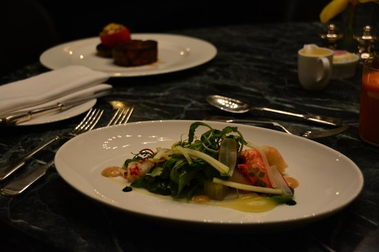 Cafe Royal Hotel: roomservice dinner