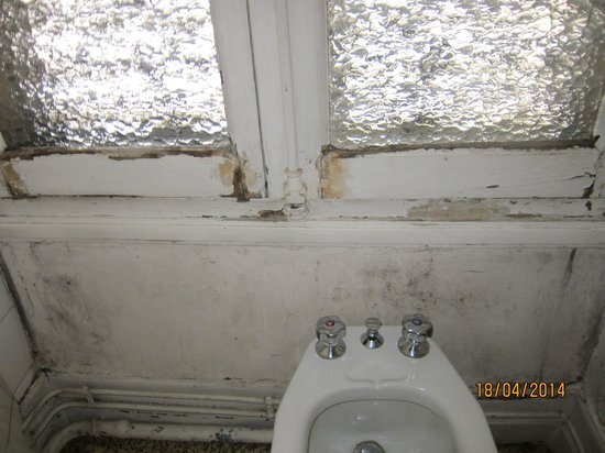 Hotel Le Montauban: moisissures dans la salle de bains