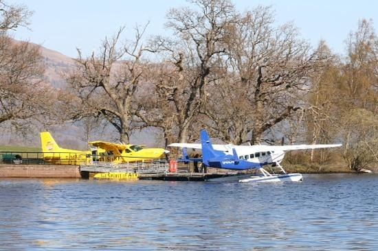 Cameron House on Loch Lomond : A seaplane ride for those who want it.