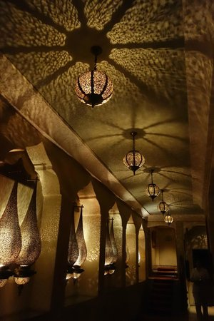 La Maison Arabe : wonderful atmospheric lighting