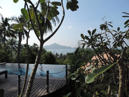 Koh Tao Heights Boutique Villas: pool and view