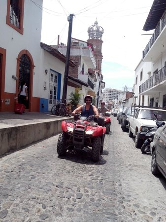Estigo Tours: cruisin' through old town PV - these roads are made for ATVs!